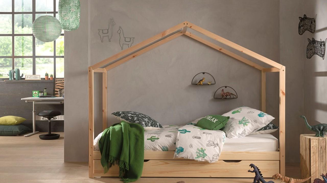 Vipack - bed als huis met slaaplade Dallas
